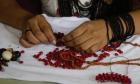Arte indígena com sementes nativas