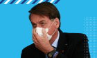 Ao confirmar Covid-19, Bolsonaro tira máscara para mostrar que está bem