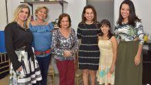 Evânia Ribeiro, Sandra Oliveira, Adiles do A. Torres, Ely Oliveira, Louise Torres e Janaina Bassoto