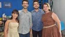 Equipe do O Progresso Digital - Louise Torres, Pedro Rocha, Wilson Duarte e Ana Paula Ostapenko