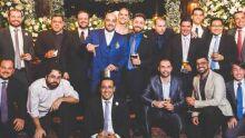 Angelo, Mário, Ricardo, Cory, Adriano, Danyllo, Thiago, Frederico, Alexandre, Francisco, Herlon; Werner, Leonardo, Sandro, Rafael e Tiago Yasun