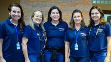 Ely Oliveira, Tânia Pezzini, Cristiane Iguma, Eliana Teixeira e Luciana Dierings, coordenação geral do Bazar de Amor