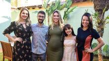 Camila Camioli, Pedro Rocha, Claudia Carlesso, Louise Torres e Janaína Bassoto