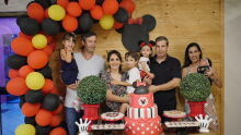 Eduardo, Eduarda, Luciana, Augusto, Helena, César, Fabiana e Sofia