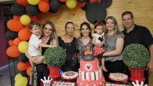 Augusto, Luana, Sueli, Luciana, Helena, Lania e César