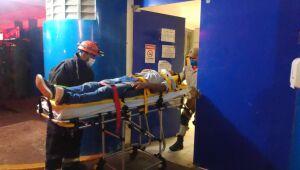 Morador de Dourados fica em estado grave após carro pegar fogo na MS-156