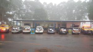 Polícia Militar Rodoviária apreende comboio de veículos com produtos do PY