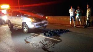 Indígena morre atropelada na noite de sexta-feira