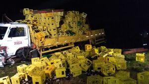 Acidente entre caminhonete e caminhão causa uma morte em Itaporã