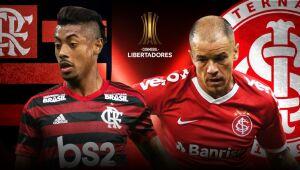 Flamengo e Inter fazem duelo inédito no mata-mata da Libertadores