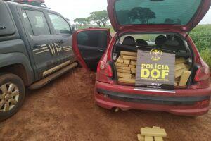 DOF prende casal que seguia para Santa Catarina com 265 kg de maconha