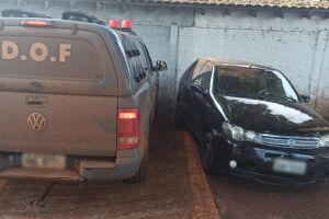 Carro furtado é recuperado em Itahum com volume prensado de maconha