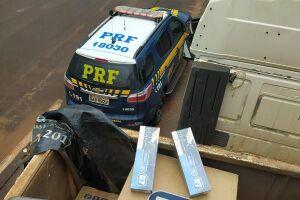 PRF apreende carreta com carga de cigarro contrabandeado avaliada em R$ 1,25 milhão