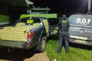 Camionete furtada no Rio de Janeiro foi recuperada pelo DOF com mais de uma tonelada e meia de maconha