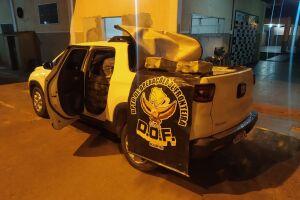 Veículo com mais de uma tonelada de maconha é apreendido pelo DOF