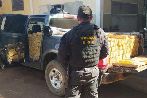 Camionete que seguia para Campo Grande com mais de uma tonelada de maconha foi recuperada pelo DOF durante a Operação Hórus