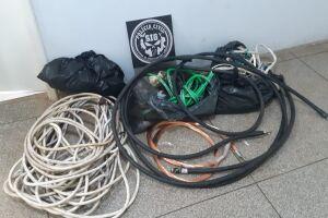 Vigilante é preso por furtar fios de cobre de empresa onde trabalhava