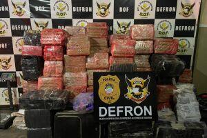 Defron apreende quase 2 toneladas de maconha em Ponta Porã