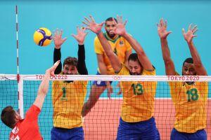 Vôlei do Brasil perde para Comitê Russo e se despede da briga pelo ouro