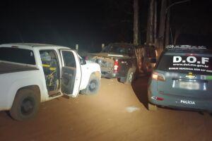 Camionetes com mais de duas toneladas de maconha são apreendidas pelo DOF
