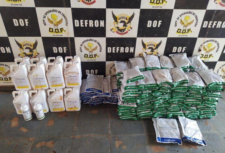 DOF apreende terceira carga de defensivo agrícola contrabandedo em 2021