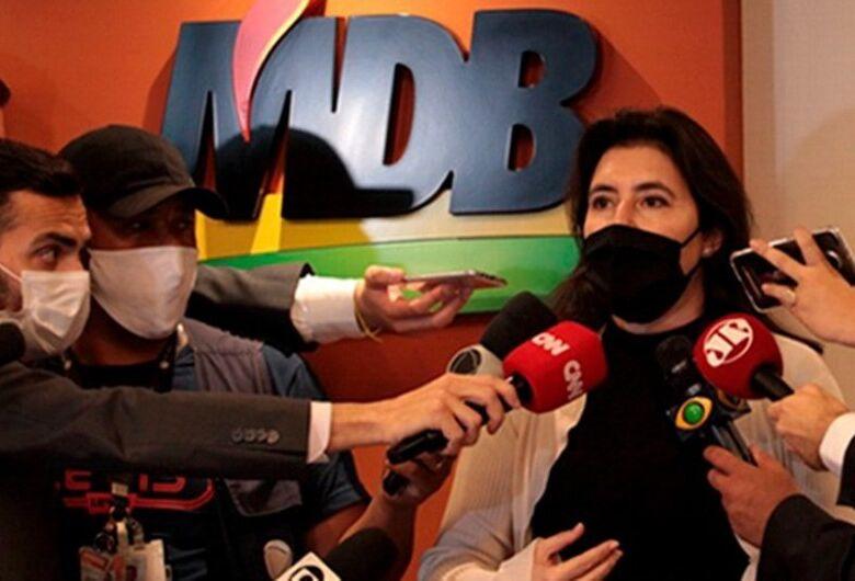 Simone Tebet promete independência, prioridade a reformas e combate à pandemia
