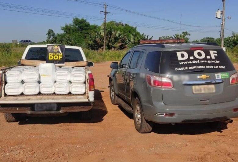 DOF apreende veículo com mais de 2 mil litros de herbicida