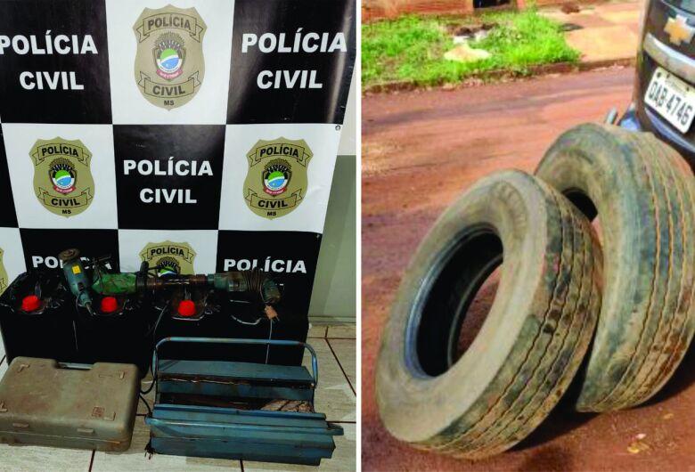 Polícia Civil prende três indivíduos por receptação em Rio Brilhante