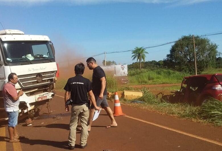 Colisão na BR-267, em Maracaju resultou em morte