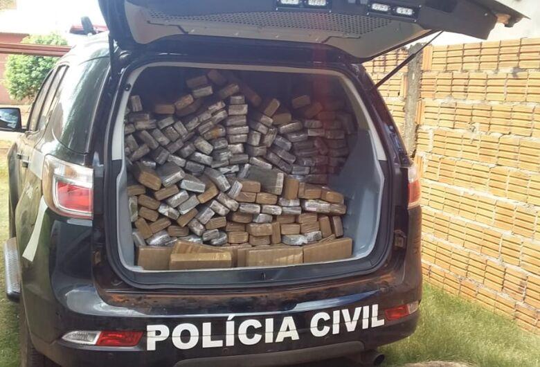 Droga apreendida em residência no Guaicurus pesou 800 kg