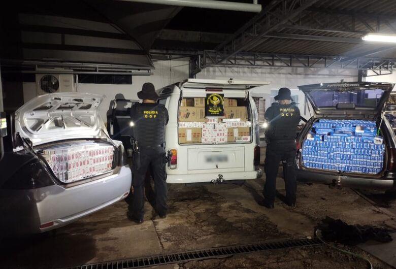 Veículos carregados com cigarros do Paraguai são apreendidos pelo DOF