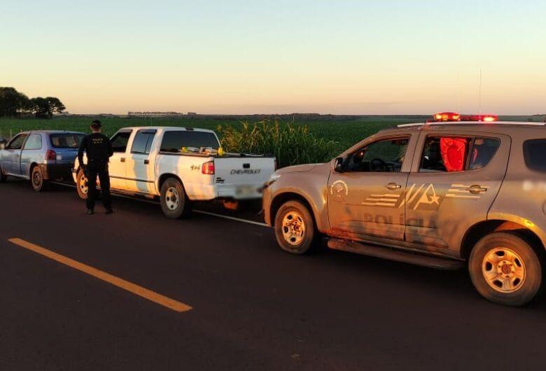 DOF apreende camionete que seguia para Dourados com mais de 1 t de droga