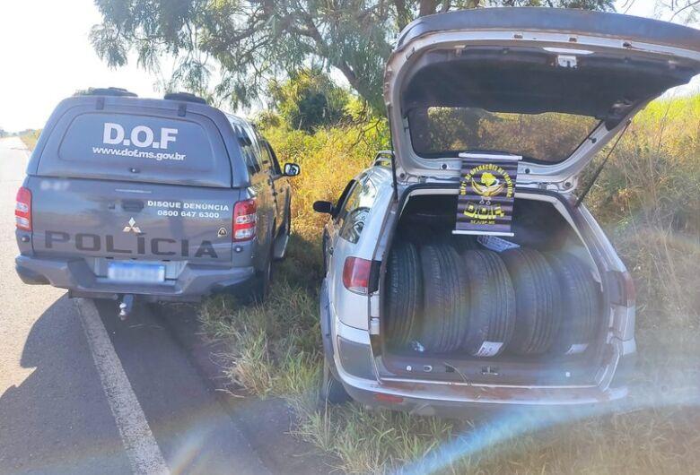 Carro carregado com mais de 90 pneus adquiridos no PY é apreendido pelo DOF