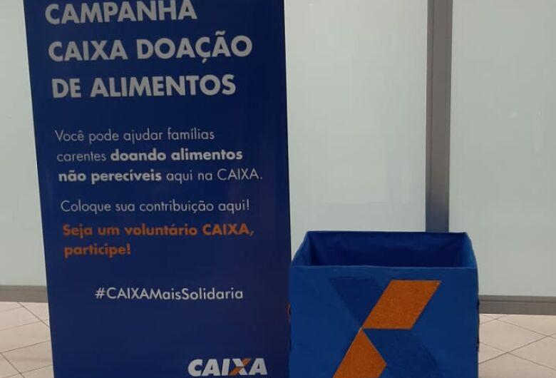 Caixa Econômica inicia campanha de arrecadação de alimentos