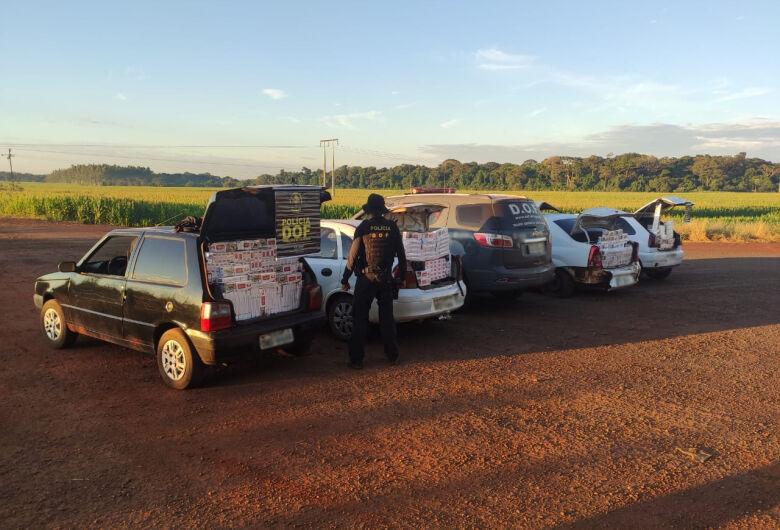 DOF apreende quatro veículos com mais de 4 mil pacotes de cigarro contrabandeados