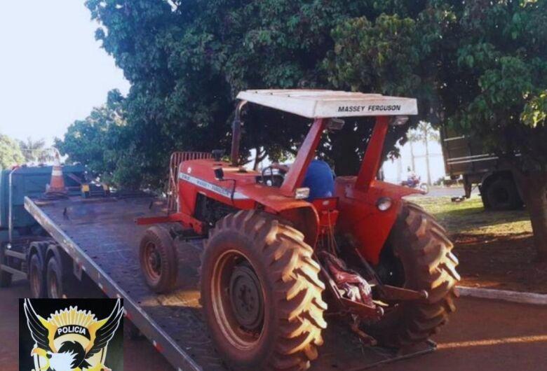 Defron recupera mais uma máquina agrícola furtada por quadrilha de Dourados