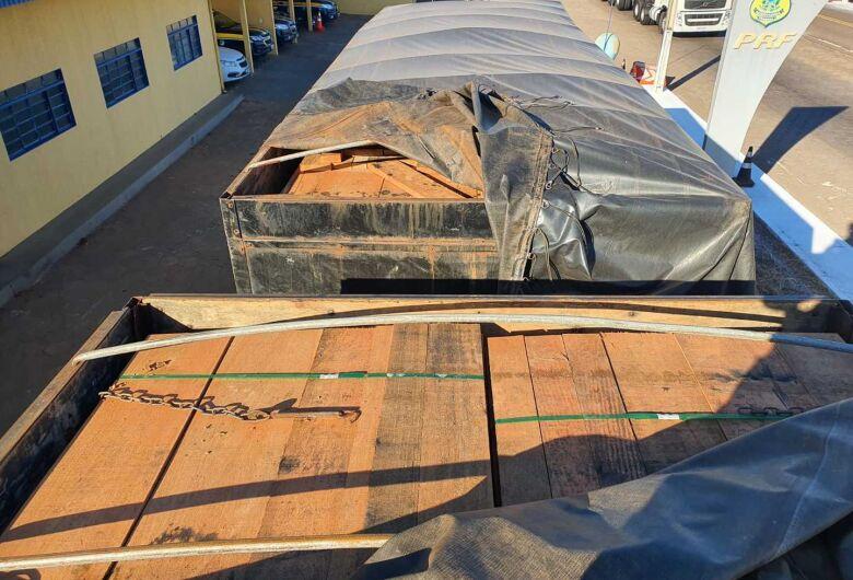 Polícia Militar Ambiental multa empresa do MT em R$ 10 mil por transporte ilegal de madeira