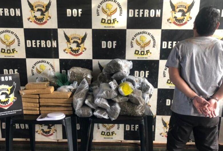 Defron prende traficante considerado o maior fornecedor de Skunk em Dourados