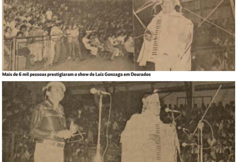 Luiz Gonzaga fez show em Dourados há 40 anos