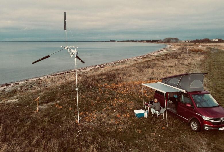 Turbina eólica portátil permite gerar energia em qualquer lugar