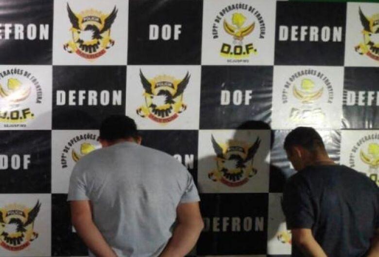 Defron realiza mais uma apreensão de maconha e skunk na fronteira