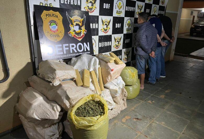 Defron apreende 3 traficantes e apreende droga em 'oficina mecânica' de fachada