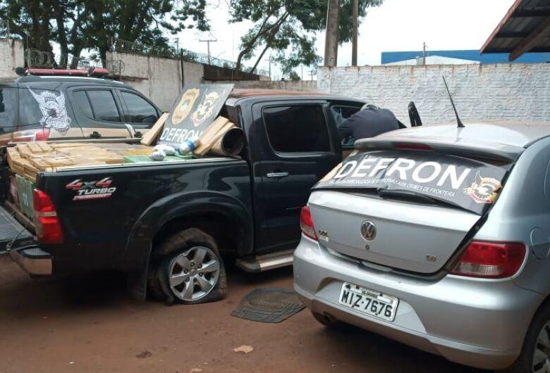 Traficante e batedor são presos pela Defron após perseguição