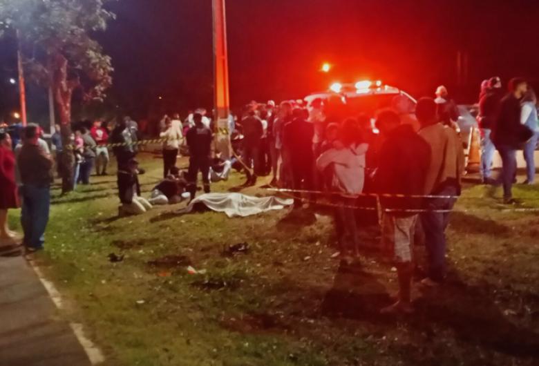 Motoentregador morre ao ser atropelado por veículo em Rio Brilhante