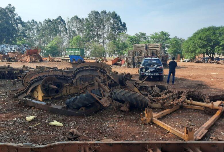 Polícia Civil de Dourados localiza implementos agrícolas e peças de máquinas