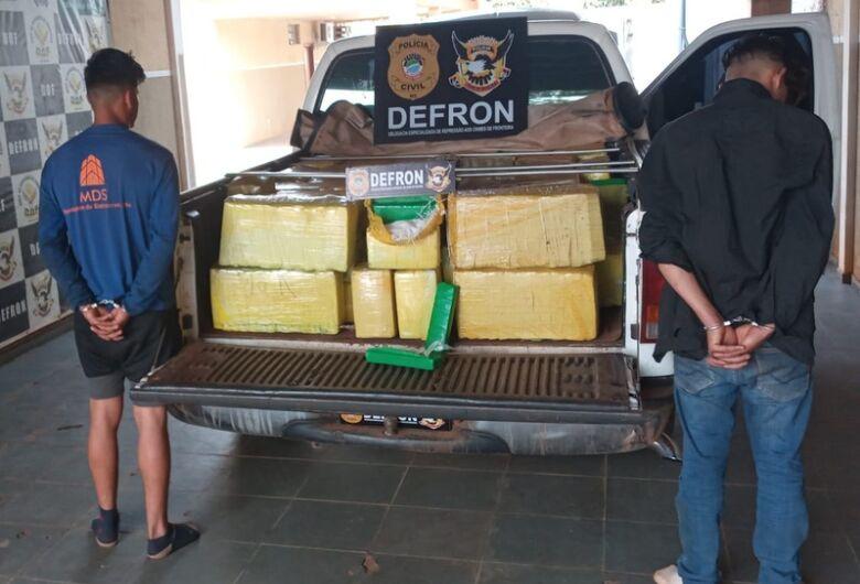 Irmãos do tráfico são presos pela Defron com quase 1 tonelada de droga