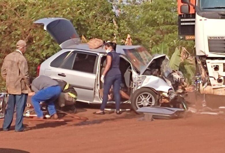 Duas mulheres morrem e homem fica gravemente ferido em acidente na MS-376