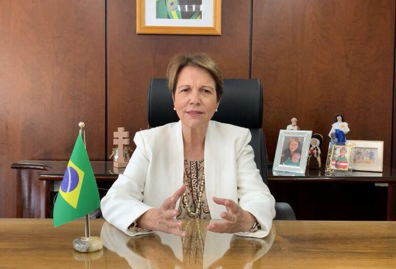 Ministra Tereza Cristina palestra na abertura da Expoagro Digital