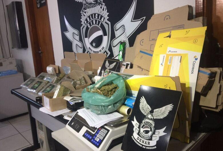 Preso ao mandar maconha para outros estados, traficante da Capital diz que postava droga quatro vezes por semana