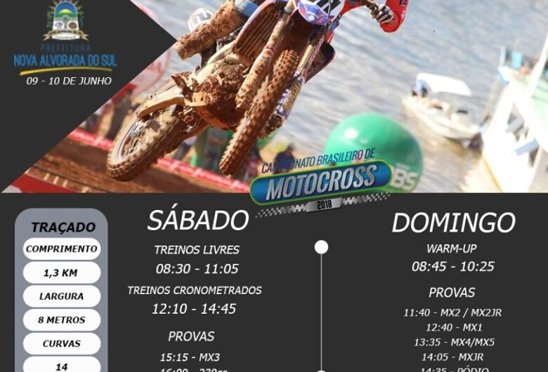 4ª etapa do Motocross em Nova Alvorada do Sul segue neste sábado e domingo